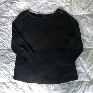 Charter Club Boat Neck 3/4 sleeves black large